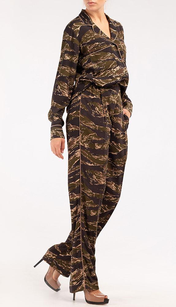 Жакет N21 с камуфляжным узором цвета хаки