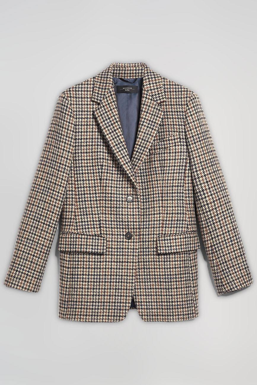 Коричневый пиджак Max Mara Weekend в клетку