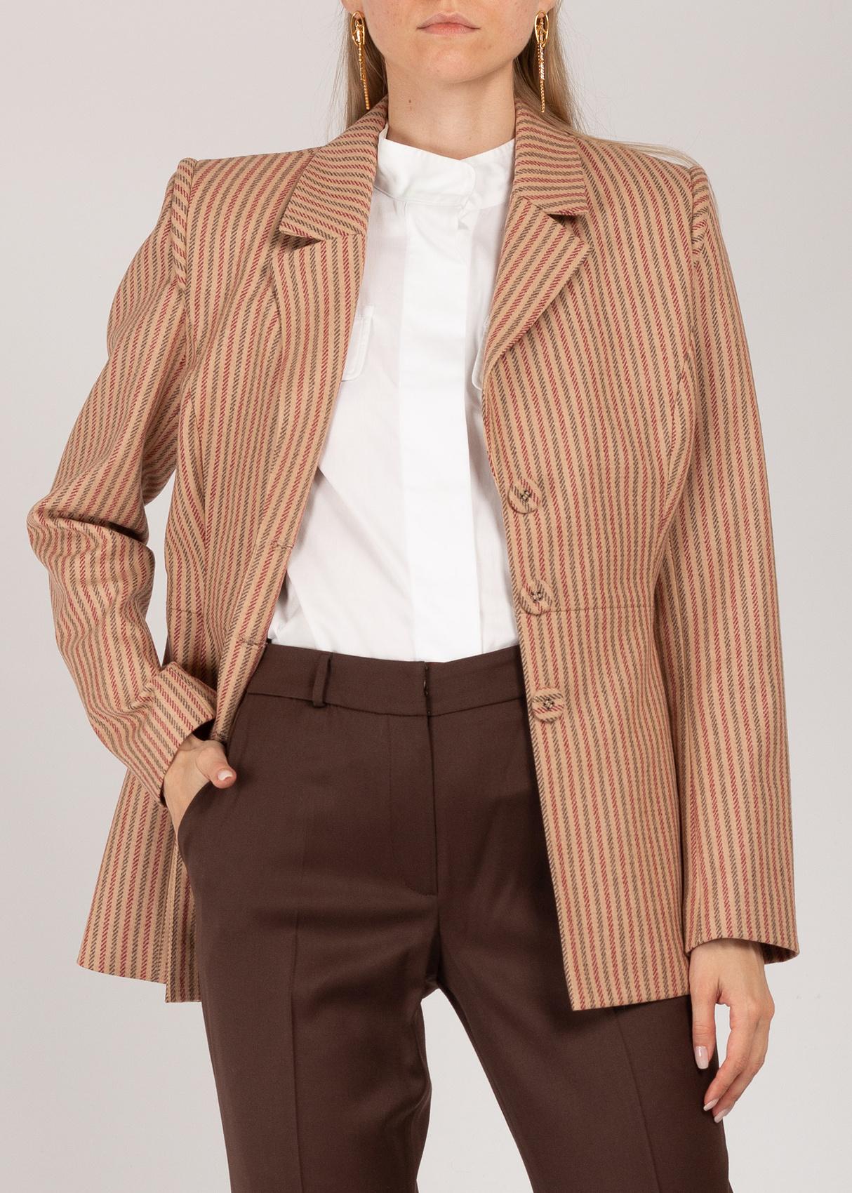 Бежевый пиджак Iva Nerolli в полоску