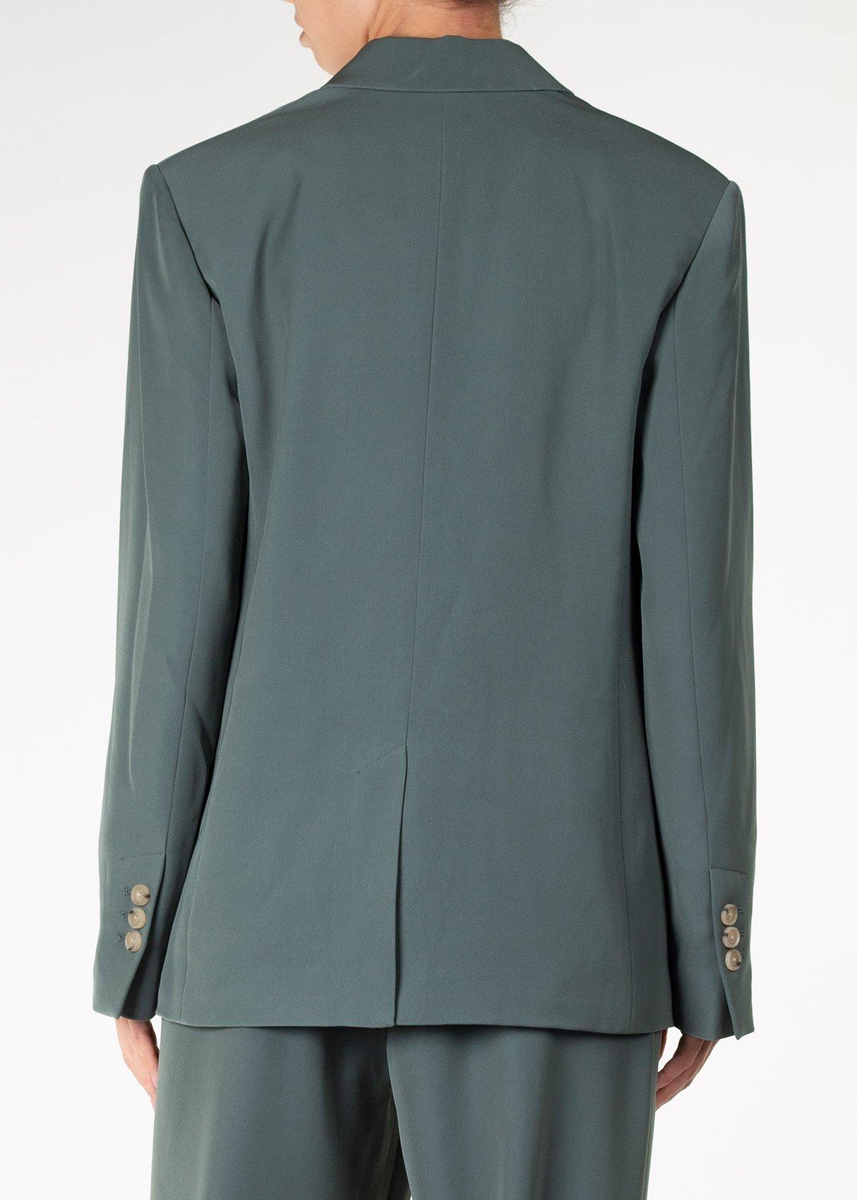 Зеленый пиджак Vince с прорезными карманами