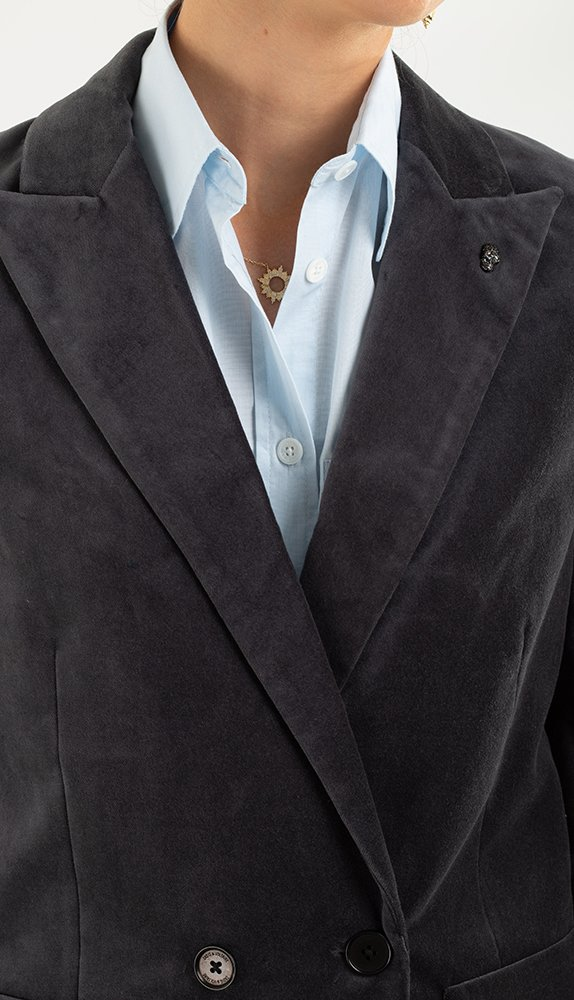 Серый пиджак Zadig & Voltaire с накладными карманами