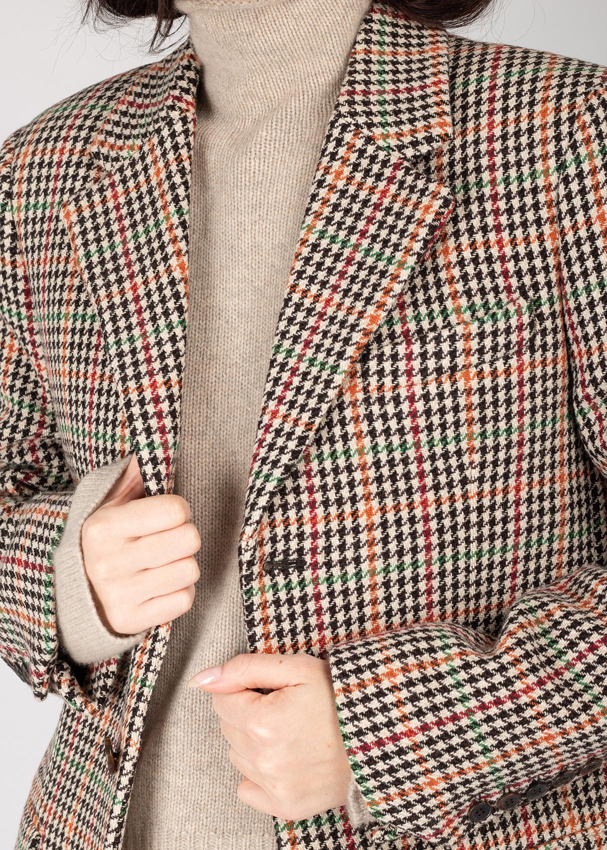 Клетчатый пиджак Zadig & Voltaire на пуговицах