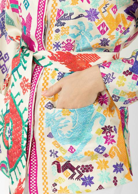 Шелковый жакет Etro с этническим узором, фото