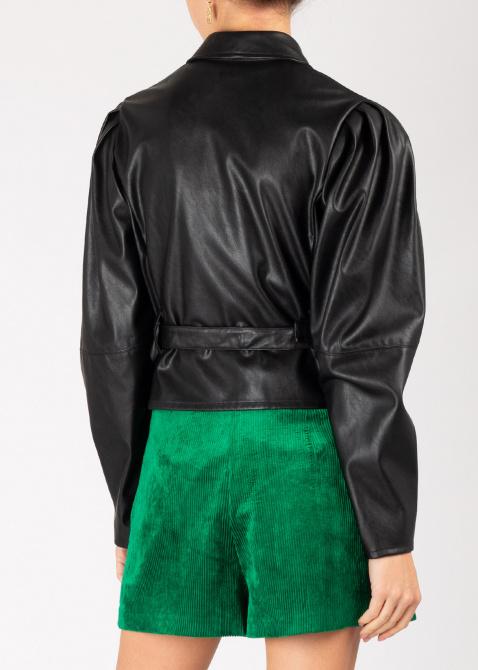 Жакет Pinko черного цвета из искусственой кожи, фото