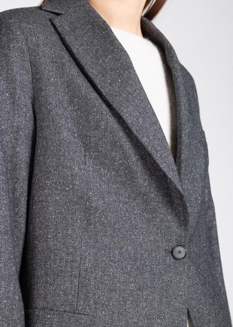 Однобортный пиджак Fabiana Filippi с трикотажными рукавами, фото