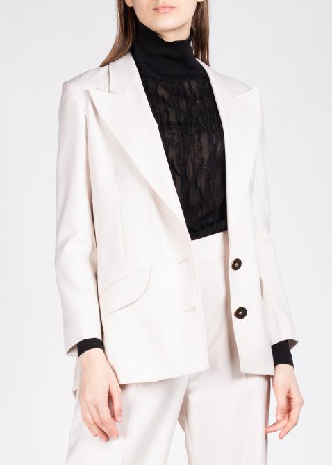 Шерстяной пиджак Patou молочного цвета, фото