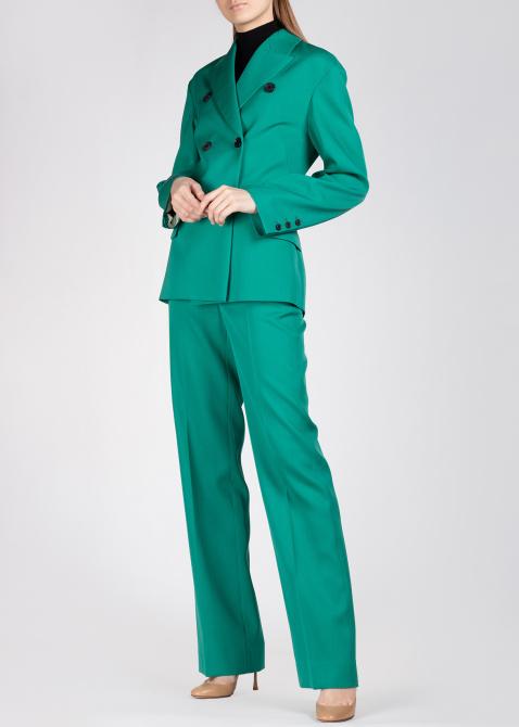 Приталенный пиджак Rochas в зеленом цвете, фото
