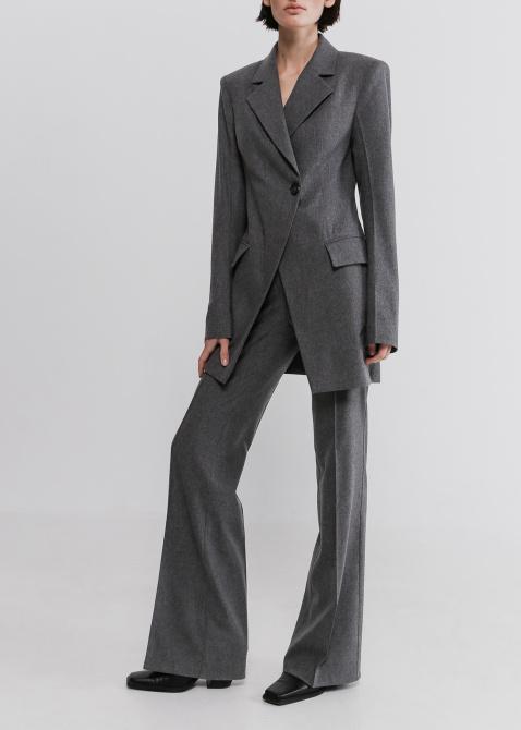 Удлиненный пиджак Shako серого цвета, фото