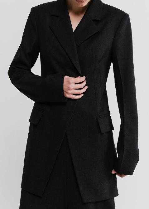 Приталенный пиджак Shako темно-серого цвета, фото