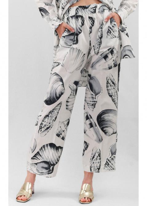 Брючный костюм Twin-Set с принтом-ракушки, фото