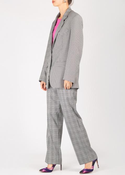 Клетчатый костюм Forte Dei Marmi Couture серого цвета, фото