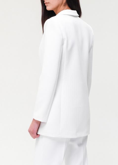 Двубортный пиджак Elisabetta Franchi белого цвета, фото