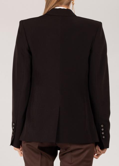 Пиджак Iva Nerolli черного цвета с широкими плечами, фото