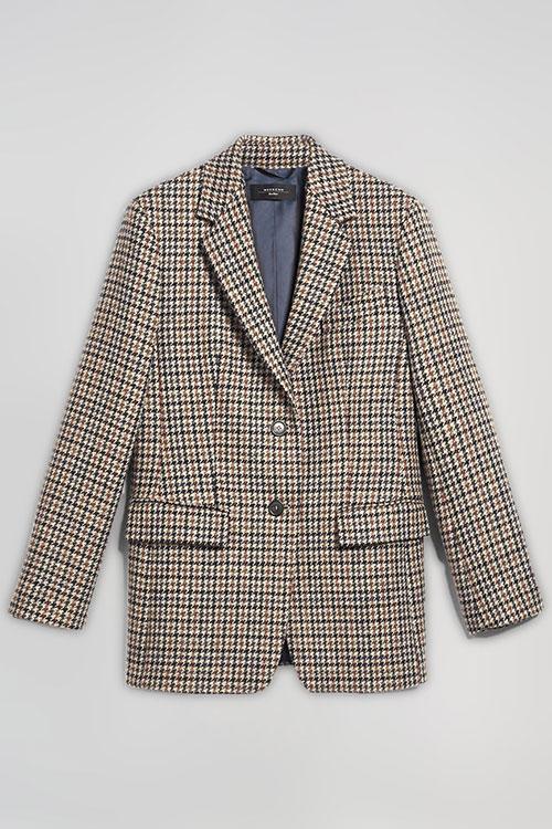 Коричневый пиджак Max Mara Weekend в клетку, фото