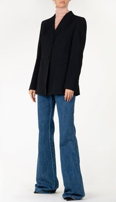 Черный пиджак Michael Kors на две пуговицы, фото
