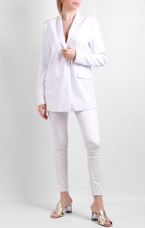 Белый пиджак Silvian Heach на одну пуговицу, фото