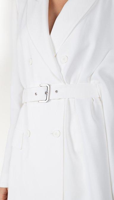 Асимметричный пиджак Alberta Ferretti белого цвета, фото