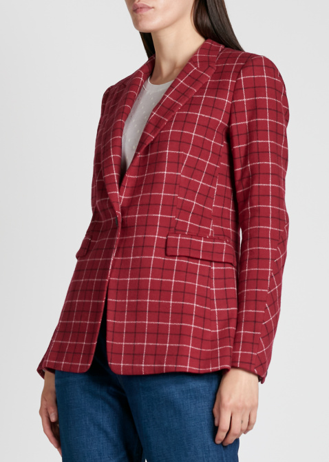 Пиджак в клетку Rag & Bone красного цвета, фото