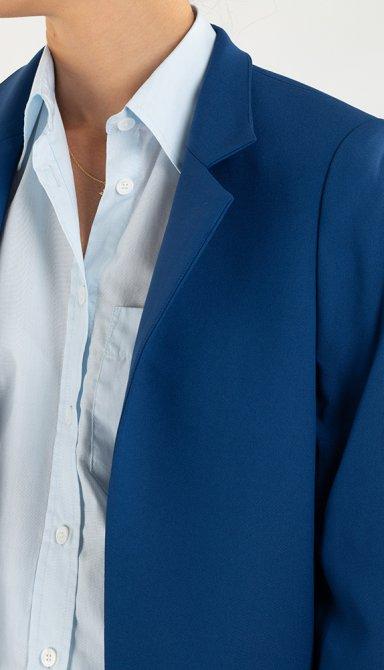 Синий пиджак Zadig & Voltaire с прорезными карманами, фото