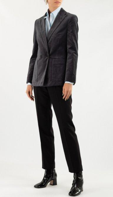 Серый пиджак Zadig & Voltaire с накладными карманами, фото