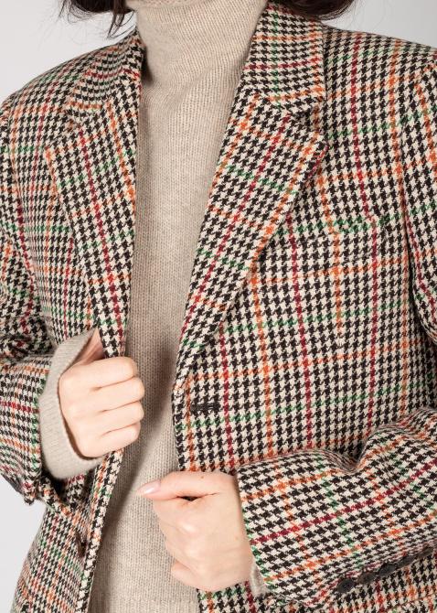 Клетчатый пиджак Zadig & Voltaire на пуговицах, фото