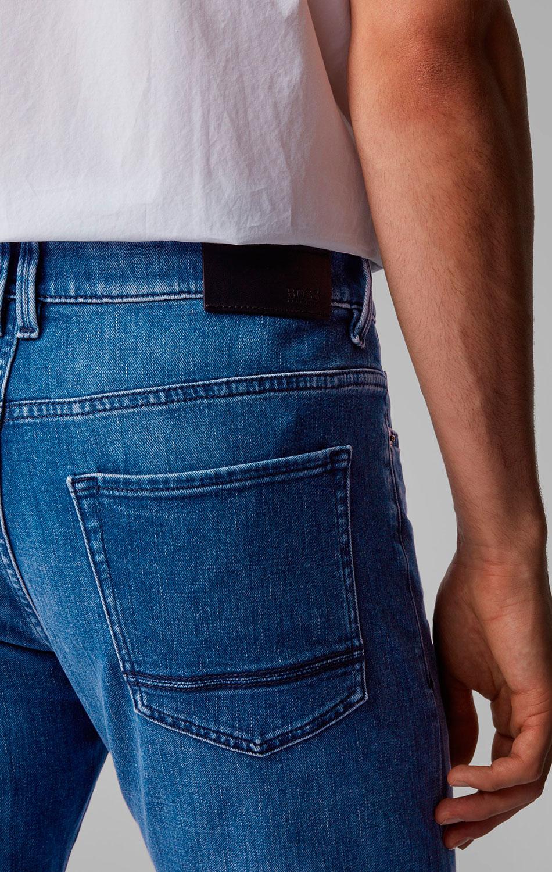 Узкие джинсы Hugo Boss синего цвета