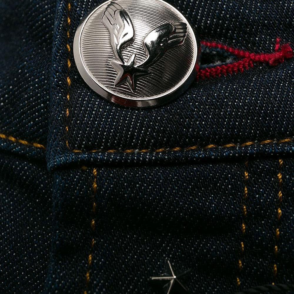 Рваные джинсы Philipp Plein темно-синего цвета
