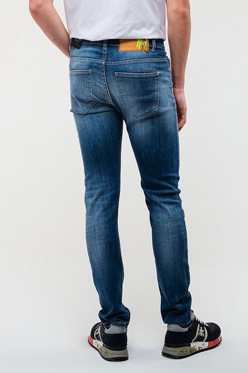 Джинсы-скинни Frankie Morello синего цвета, фото