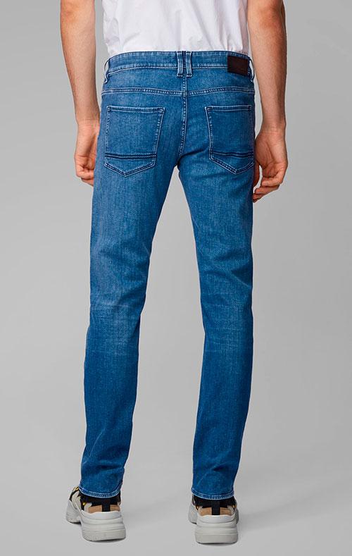 Узкие джинсы Hugo Boss синего цвета, фото