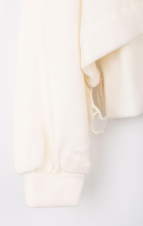 Детская толстовка Elsy белого цвета