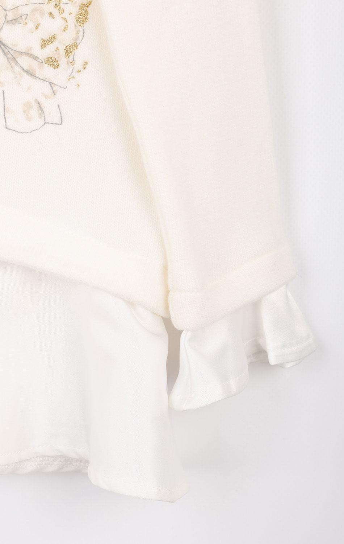 Детский белый джемпер Elsy с бантиками