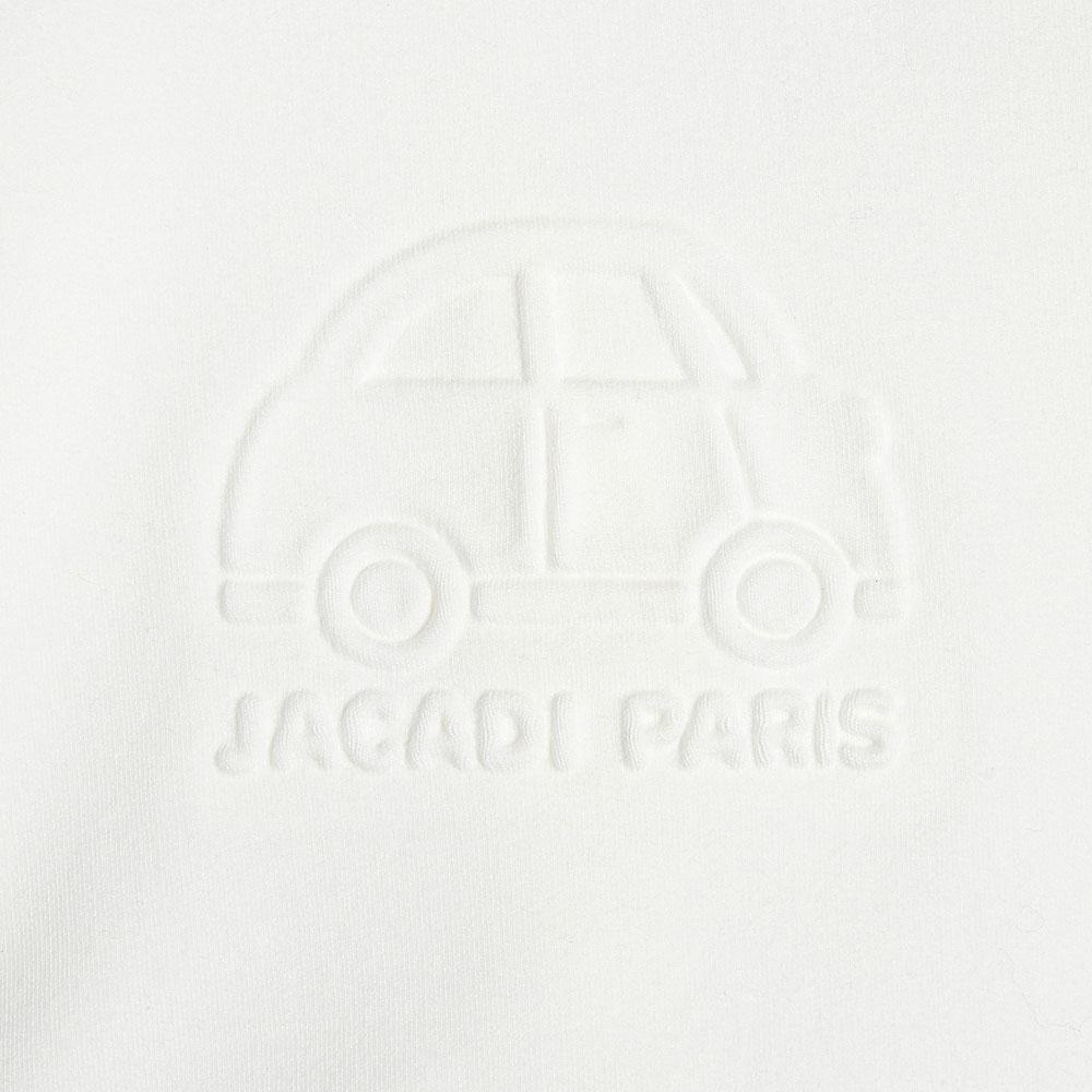 Белый детский джемпер Jacadi с фактурным принтом