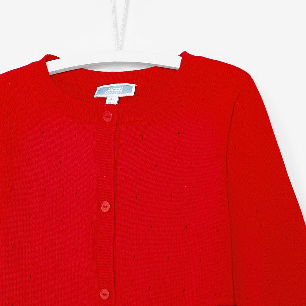 Красный кардиган Jacadi для девочек