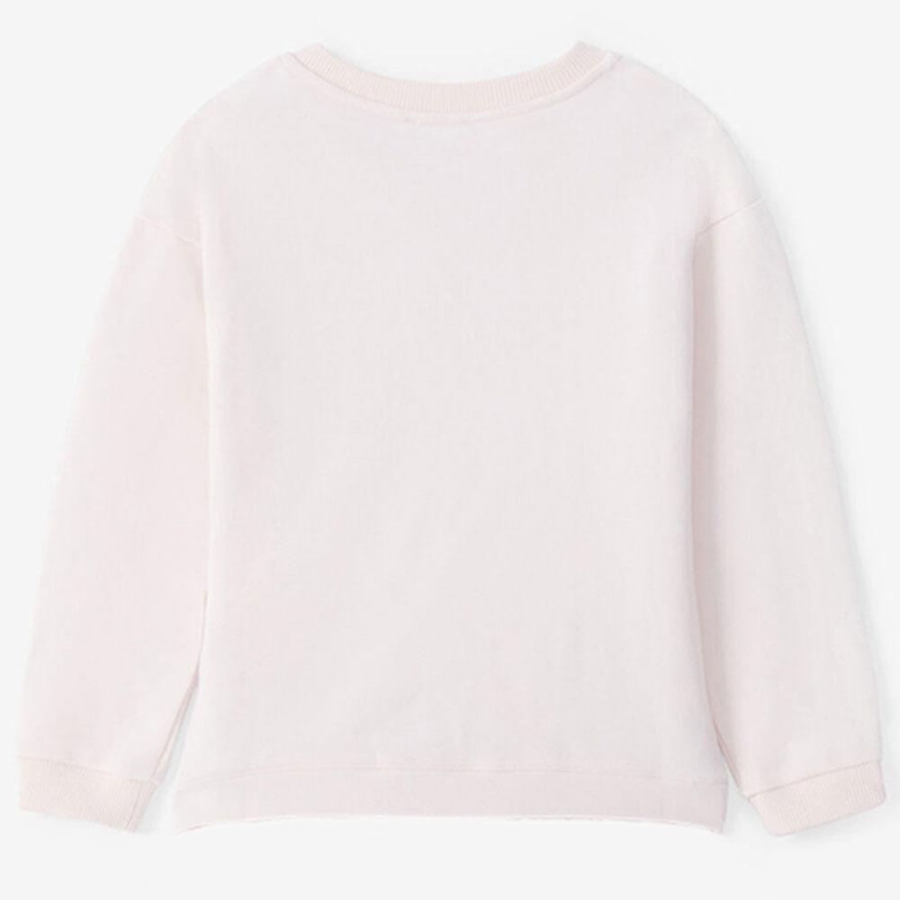 Розовый свитшот Kenzo с брендовой вышивкой
