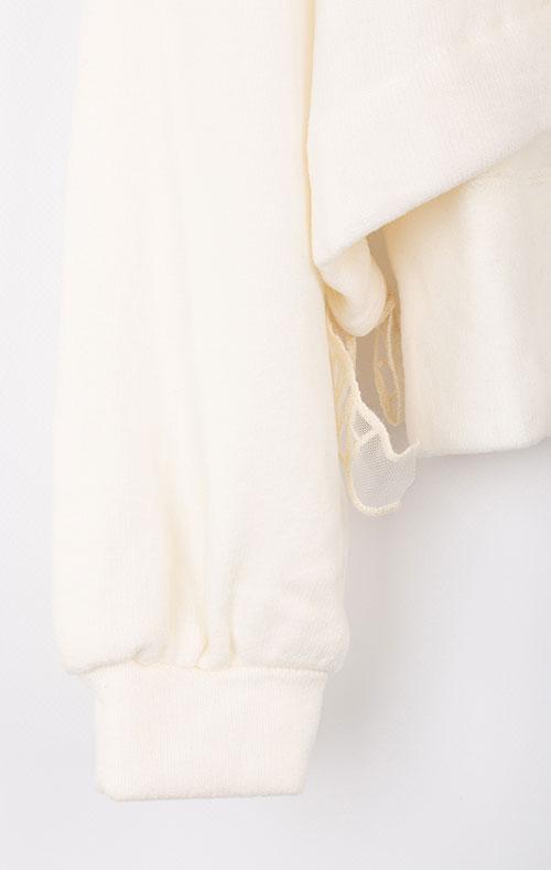 Детская толстовка Elsy белого цвета, фото
