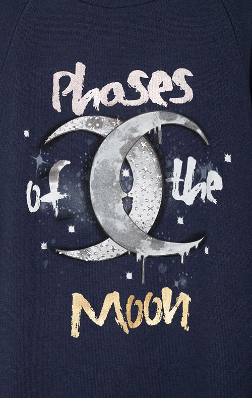 Синий детский свитшот Elsy с луной, фото