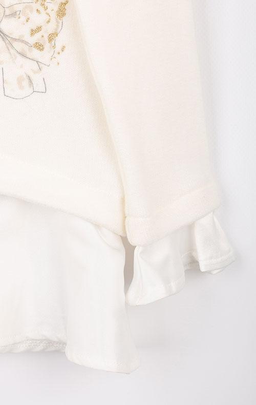 Детский белый джемпер Elsy с бантиками, фото