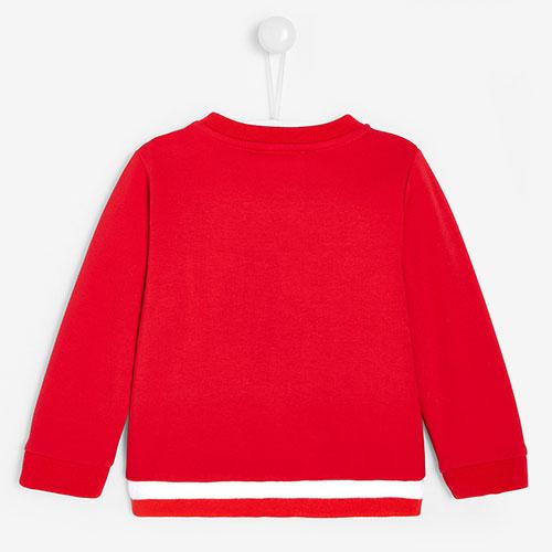Красный детский свитшот Jacadi с принтом, фото