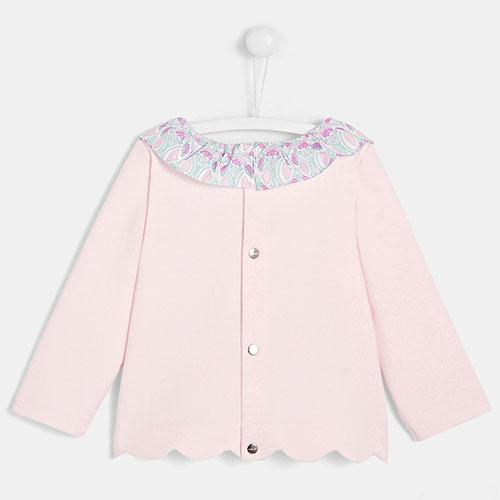 Розовый джемпер с воротником Jacadi для детей, фото