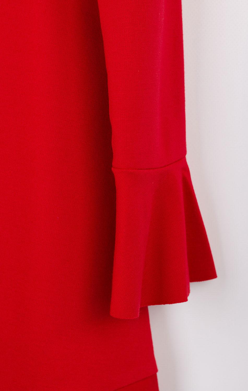Детское платье Elsy красное со стразами