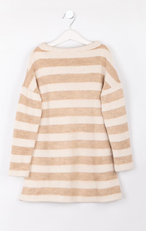Детское полосатое платье Elsy с вышитой звездой