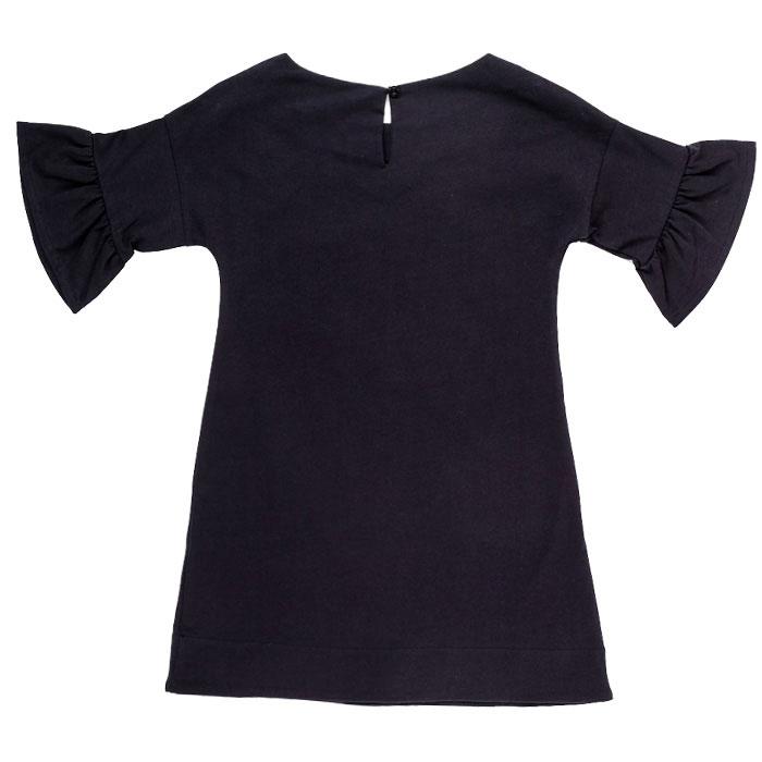 Трикотажное платье черного цвета с принтом