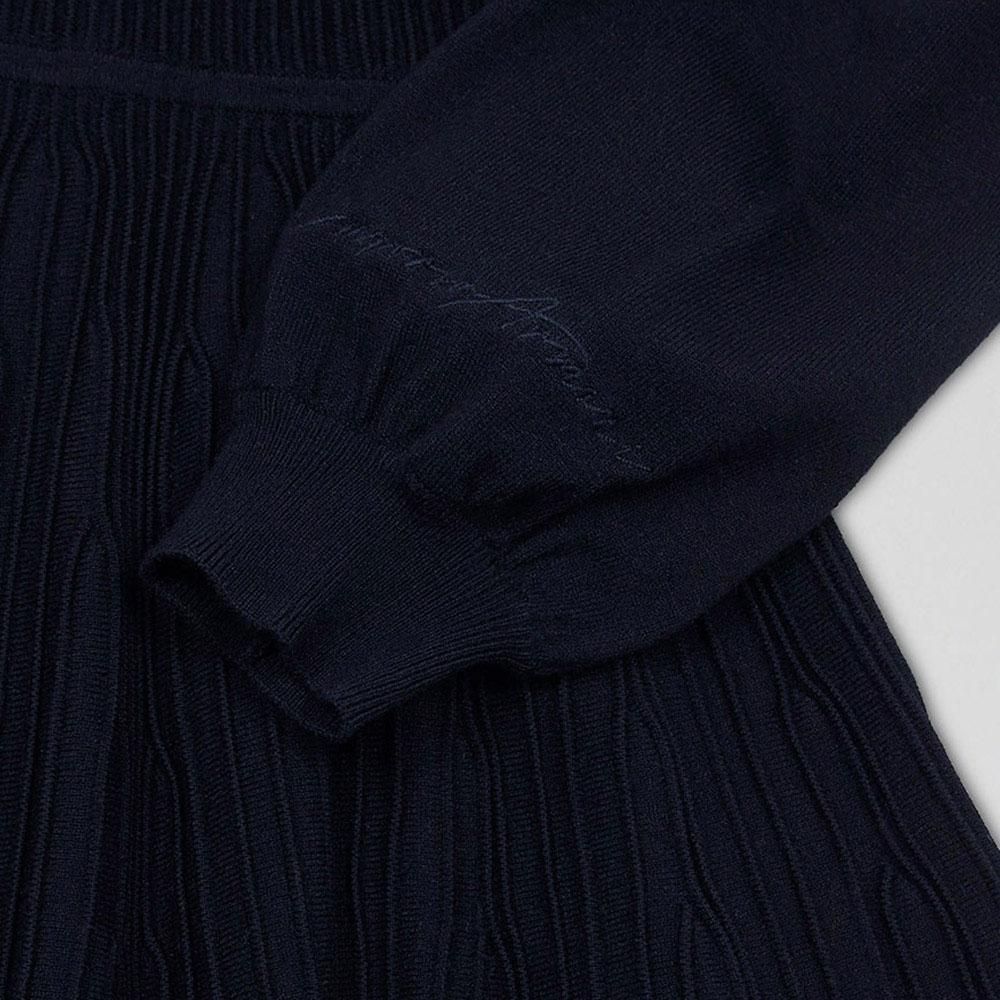 Платье для девочек Emporio Armani темно-синего цвета