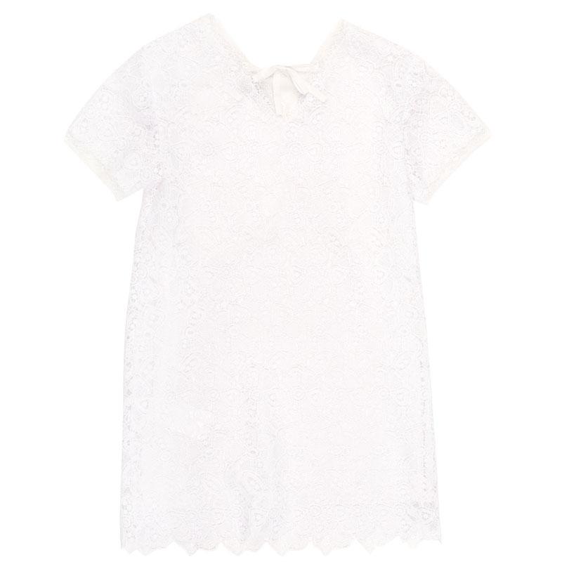 Белое платье Ermanno Scervino с кружевом
