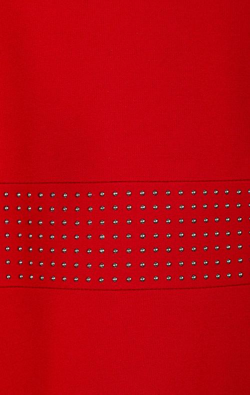 Детское платье Elsy красное со стразами, фото