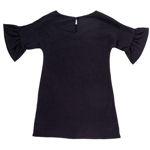 Трикотажное платье черного цвета с принтом, фото