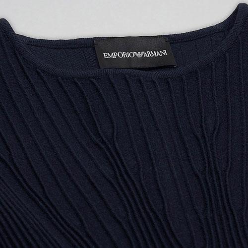 Платье для девочек Emporio Armani темно-синего цвета, фото