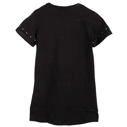 Черное платье Philipp Plein со стразами, фото
