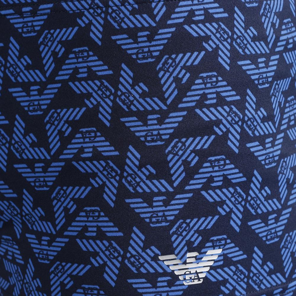 Плавки-боксеры Emporio Armani с брендовым принтом