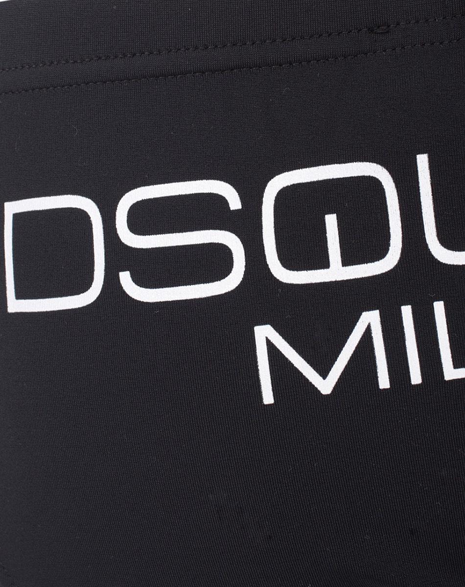 Черные плавки Dsquared2 Milano с брендовым принтом
